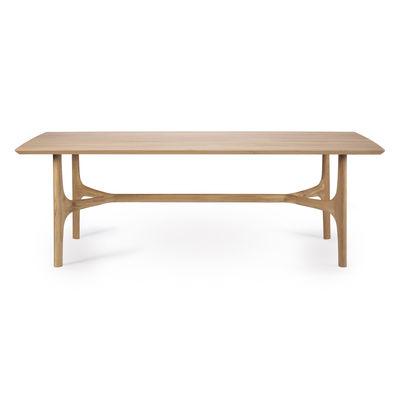 Table rectangulaire Nexus / Chêne massif - 230 x 105 cm / 8 personnes - Ethnicraft bois naturel en bois