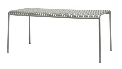 Table rectangulaire Palissade / 160 x 80 - R & E Bouroullec - Hay gris clair en métal