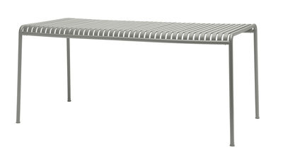 Table rectangulaire Palissade / 170 x 90 cm - R & E Bouroullec - Hay gris clair en métal