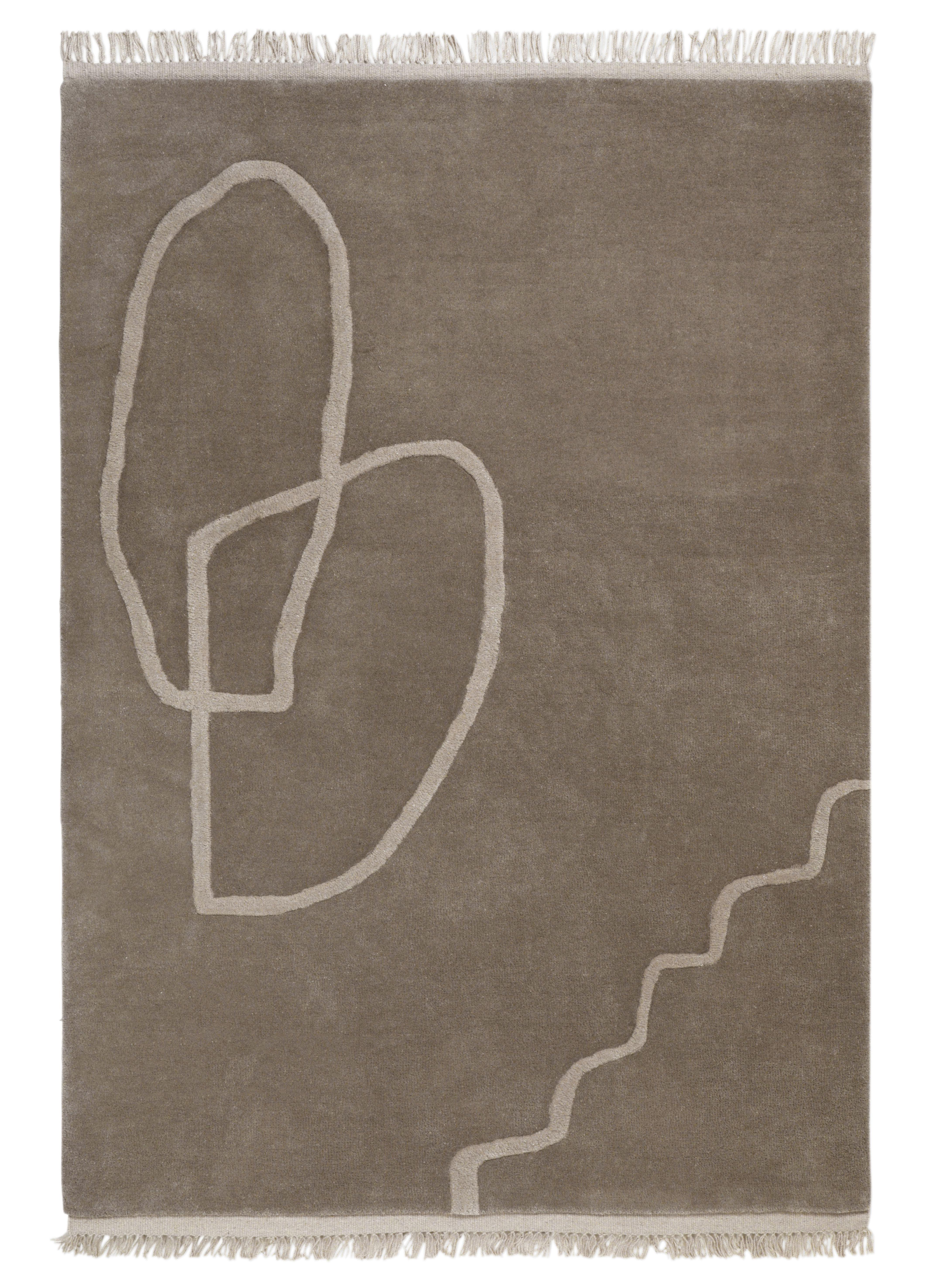 Déco - Tapis - Tapis Désert / 200 x 300 cm - Tissé main - Ferm Living - Sable - Laine