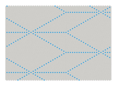 Mobilier - Tapis - Tapis S&B Dot 170 x 120 cm - Hay - Bleu / Gris clair - Laine