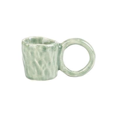 Arts de la table - Tasses et mugs - Tasse à espresso Donut Small / Edition limitée - Fait main - PIA CHEVALIER - Citron Vert - Faïence émaillée