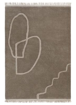 Dekoration - Teppiche - Désert Teppich / 200 x 300 cm - handgewebt - Ferm Living - Sandfarben - Wolle