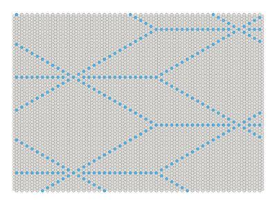 Möbel - Teppiche - S&B Dot Teppich 170 x 120 cm - Hay - Blau / Hellgrau - Wolle