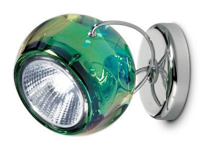 Plafoniere Vetro Trasparente : Applique beluga fabbian verde trasparente Ø 11.6 made in design