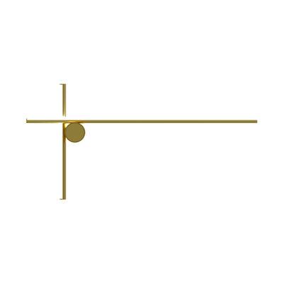 Luminaire - Appliques - Applique Coordinates W2 LED / 80 x 40 cm - Flos - Champagne anodisé - Aluminium extrudé