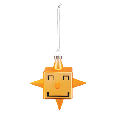 Decoration - Home Accessories - Cubik Star Bauble - / Hand-painted blown glass by Alessi - Star - Blown glass