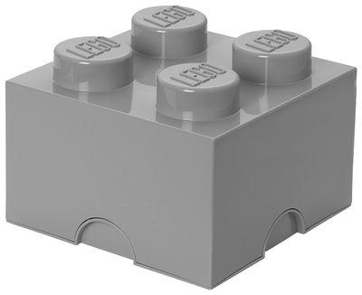 Déco - Pour les enfants - Boîte Lego® Brick / 4 plots - Empilable - ROOM COPENHAGEN - Gris - Polypropylène