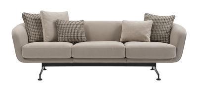 Mobilier - Canapés - Canapé droit Betty Boop / 3 places - L 245 cm - Kartell - Canapé / Beige - Acier peint, Mousse de polyuréthane expansé, Tissu