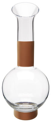 Tableware - Water Carafes & Wine Decanters - Tank Carafe by Tom Dixon - Clear and copper - Mouth blown glass