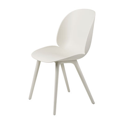Furniture - Chairs - Beetle OUTDOOR Chair - / Polypropylene by Gubi - Alabaster white - Polypropylene