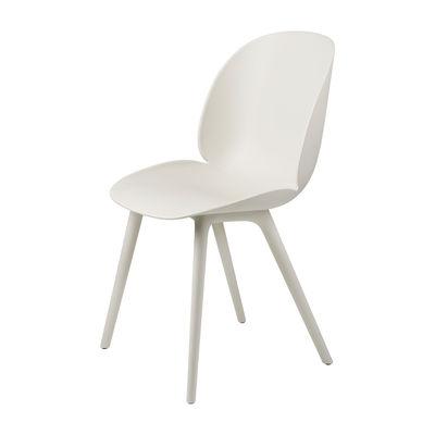 Mobilier - Chaises, fauteuils de salle à manger - Chaise Beetle OUTDOOR / Polypropylène - Gubi - Blanc albâtre - Polypropylène