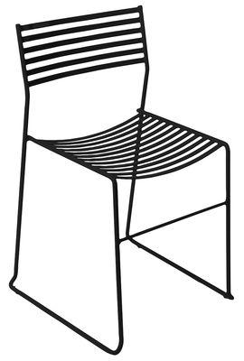 Chaise empilable Aero / Métal - Emu noir en métal