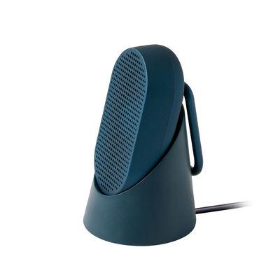 Accessoires - Enceintes audio & son - Enceinte Bluetooth Mino T - 5W / Etanche - Mousqueton intégré / Station d'accueil - Lexon - Bleu foncé mat - ABS