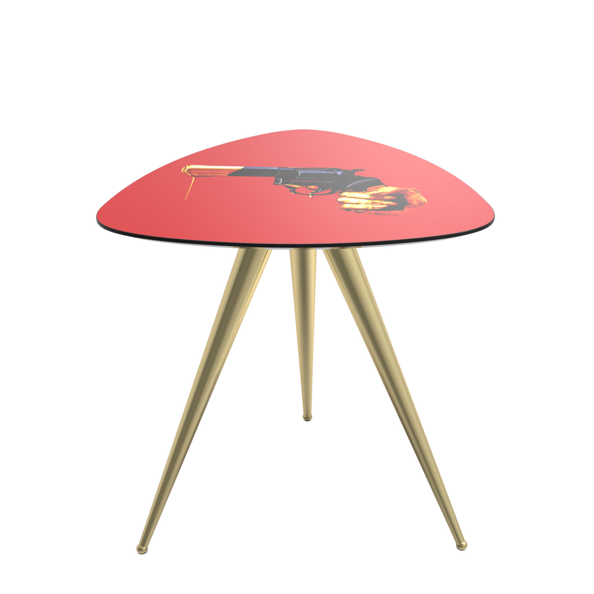 Outdoor - Coffee Tables - Toiletpaper - Revolver End table - / 57 x 57 x H 48 cm by Seletti - Revolver - MDF, Metal