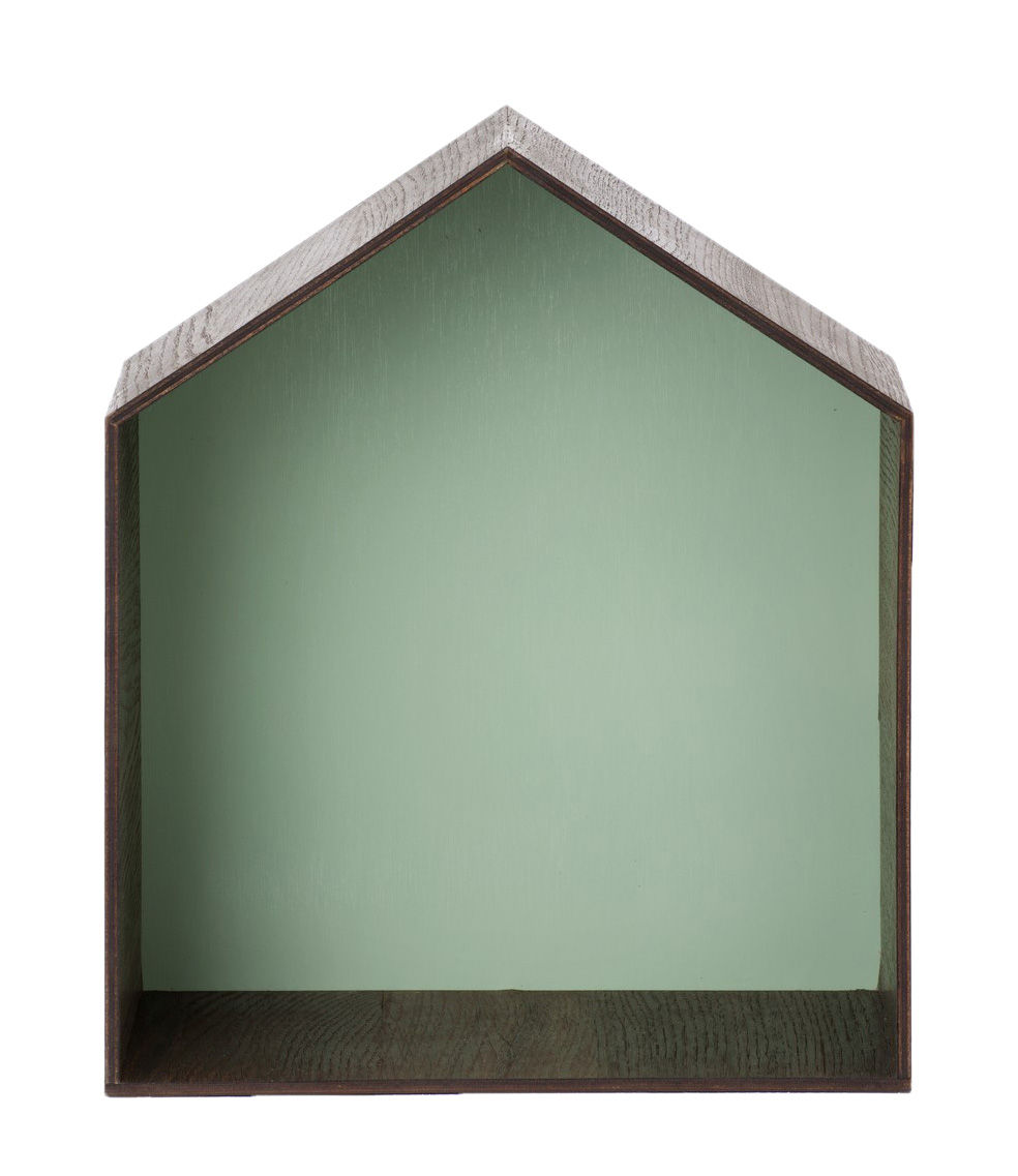 Mobilier - Etagères & bibliothèques - Etagère Studio / L 30 x H 35 cm - Ferm Living - Vert d'eau - Chêne