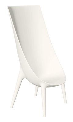 Mobilier - Chaises, fauteuils de salle à manger - Fauteuil Out-In dossier haut - Driade - Blanc - Polyéthylène