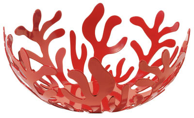 Accessoires - Accessoires für das Bad - Mediterraneo Korb - Alessi - Ø 21 cm - Rot - Stahl