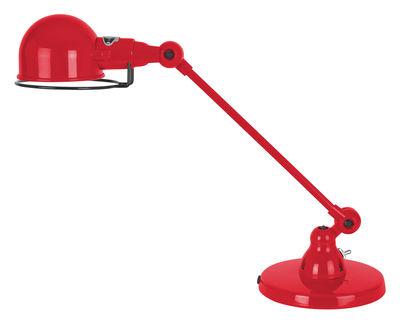 Luminaire - Lampes de table - Lampe de table Signal / 1 bras - L 40 cm - Jieldé - Rouge brillant - Acier inoxydable