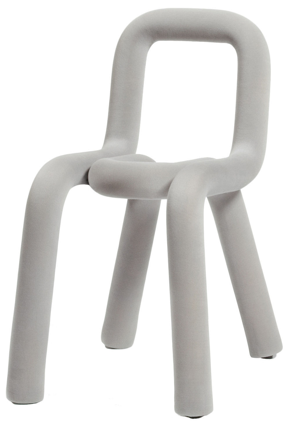 Furniture - Chairs - Bold Padded chair - Fabric by Moustache - Light grey - Fabric, Foam, Steel