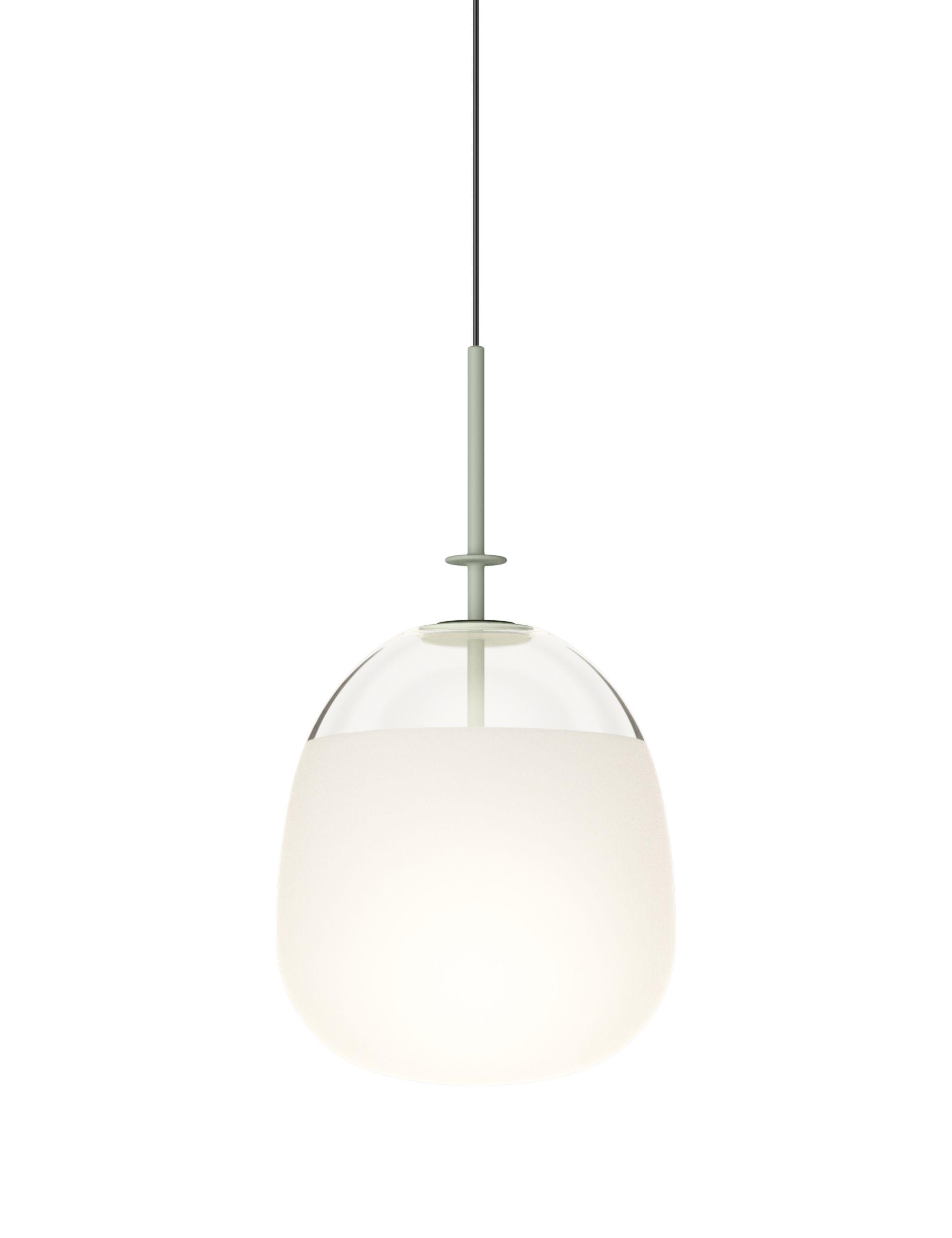 Leuchten - Pendelleuchten - Tempo Globe Pendelleuchte / LED - Ø 24 cm - Vibia - Grün - geblasenes Glas, klarlackbeschichtetes Aluminium