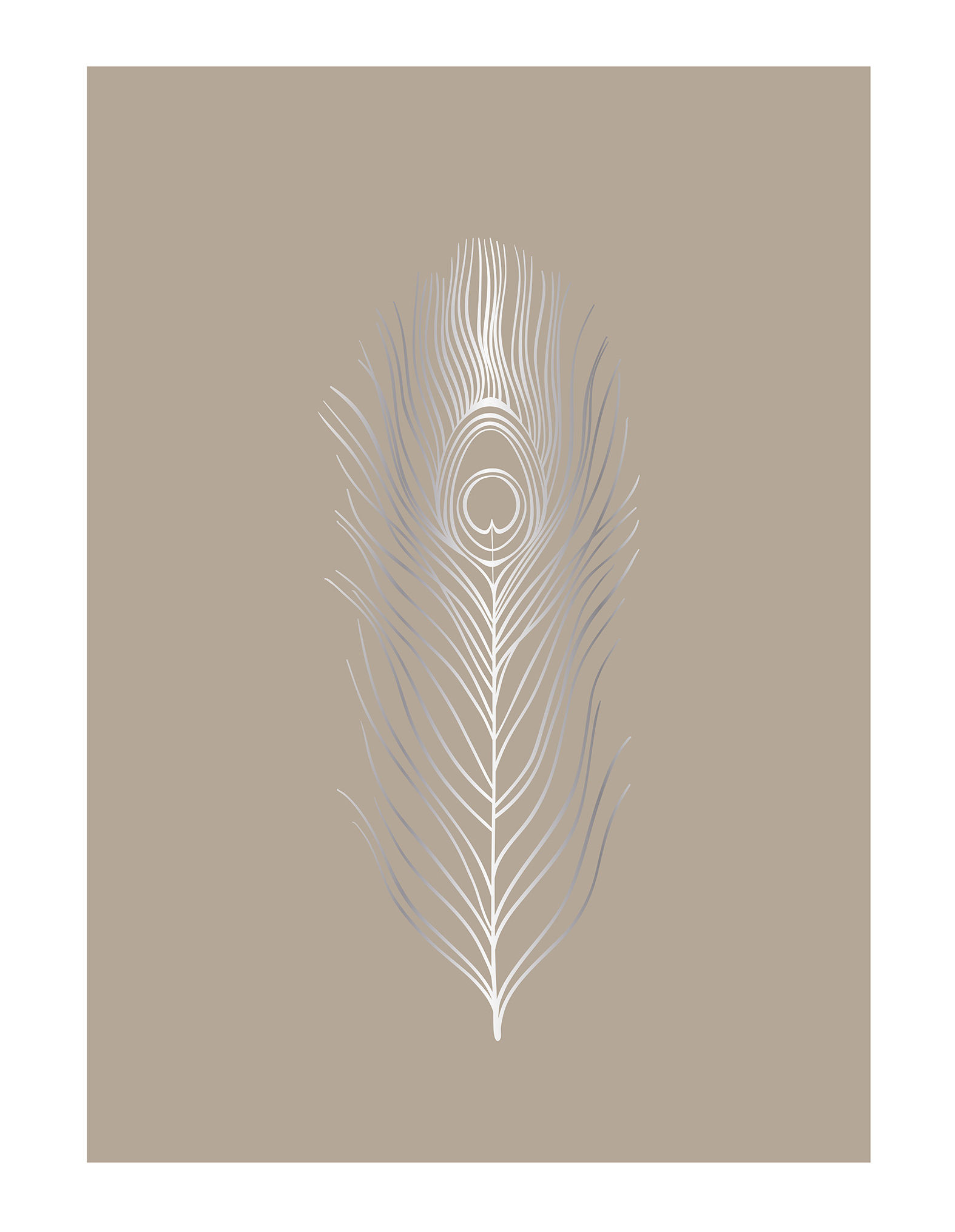 Decoration - Wallpaper & Wall Stickers - Poster - / Abstract - 30 x 40 cm by Bloomingville - Abstract / Beige - Paper