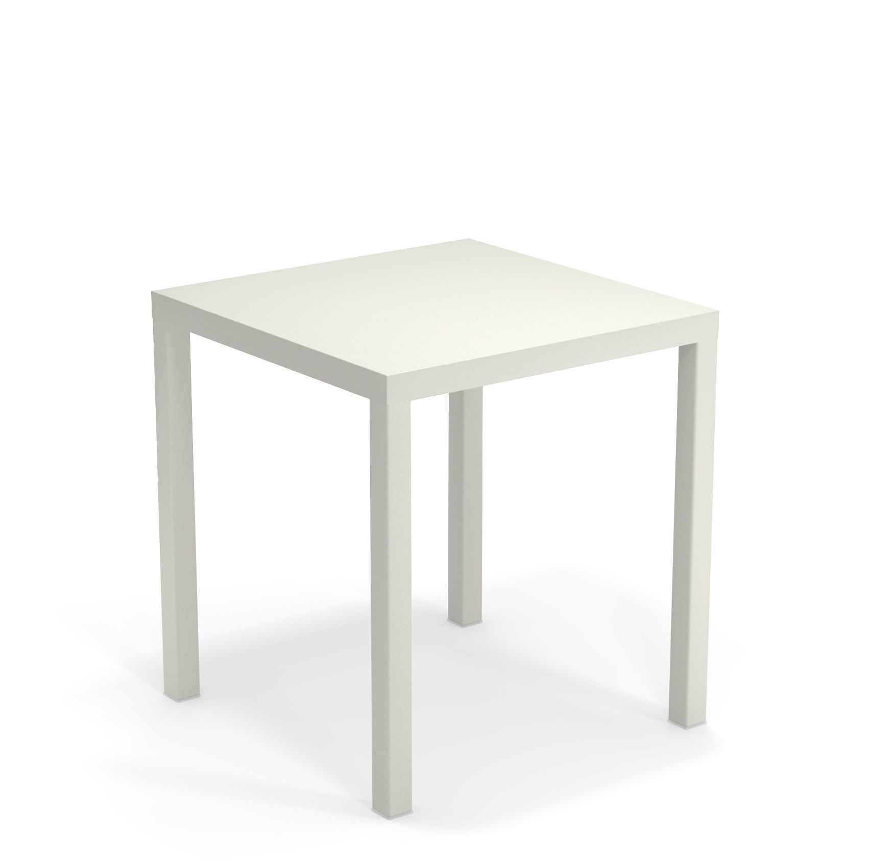 Outdoor - Tische - Nova quadratischer Tisch / Metall - 70 x 70 cm - Emu - Weiß - gefirnister Stahl