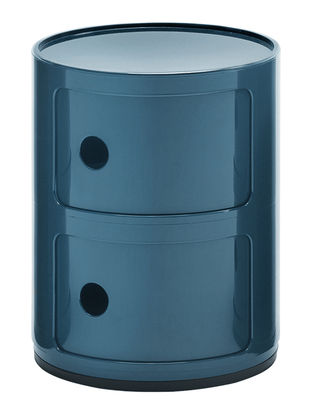 Rangement Componibili 2 Tiroirs H 40 Cm Bleu Petrole Kartell
