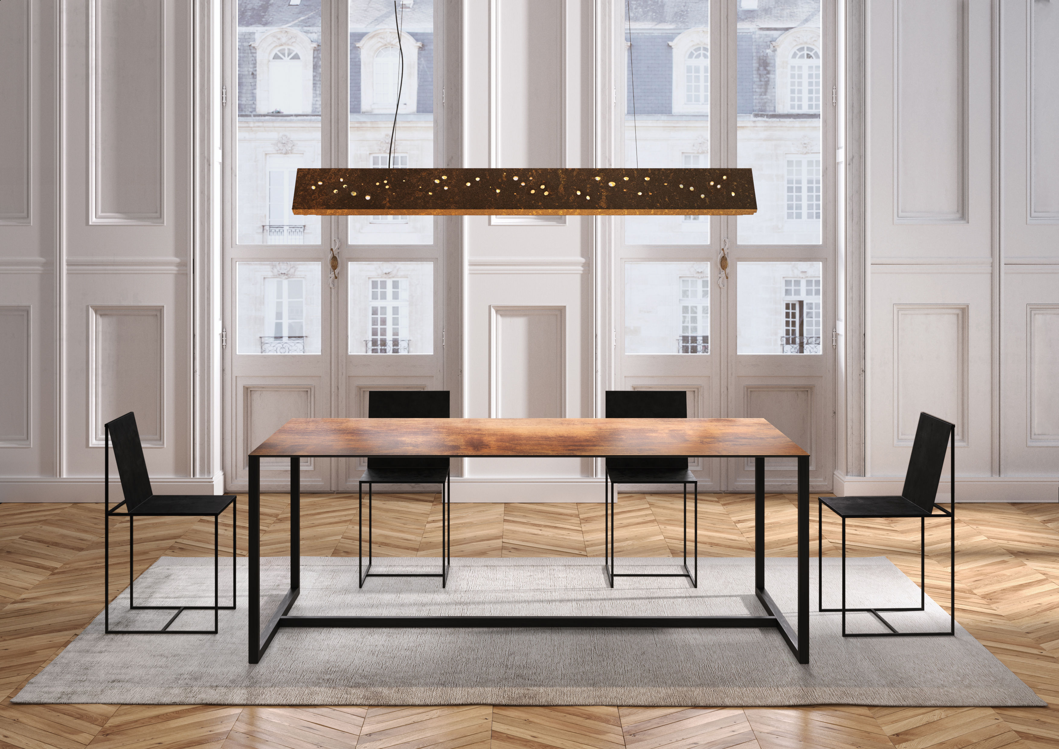 Table rectangulaire Big Brother von Zeus - Tischplatte: schwarz ...