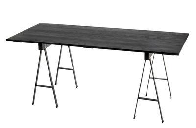 Möbel - Tische - Studio Simple rechteckiger Tisch / mit Tischböcken - 180 x 75 cm - Serax - Schwarz - Eiche, Metall