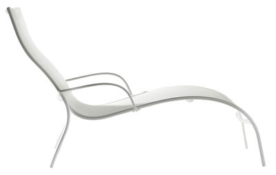 Outdoor - Sun Loungers & Hammocks - Paso Doble Reclining chair by Magis - White - Cloth, Varnished aluminium
