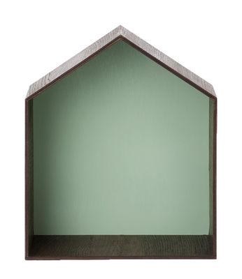 Arredamento - Scaffali e librerie - Scaffale Studio di Ferm Living - Quercia affumicata / Sfondo verde acqua - Rovere