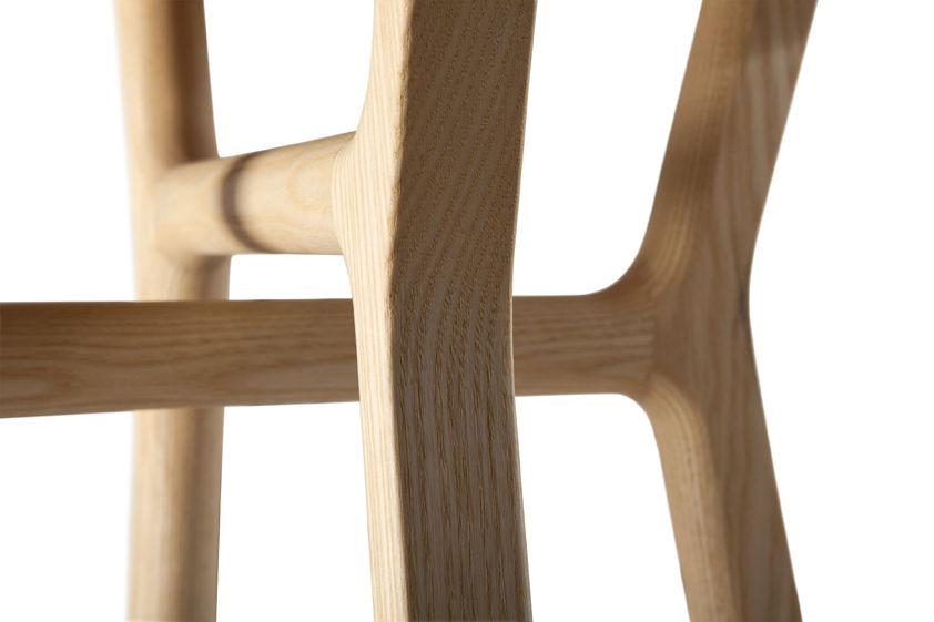 Affi sgabello h 42 cm legno faggio & noce by internoitaliano