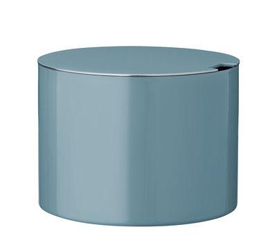 Sucrier Cylinda-Line / Arne Jacobsen, 1967 - Stelton bleu turquoise en métal