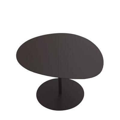 Table basse Galet n°3 / INDOOR - 57 x 64 cm - H 37,5 cm - Matière Grise noir pailleté en métal