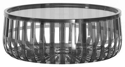 Table basse Panier / Coffre - Kartell gris en matière plastique
