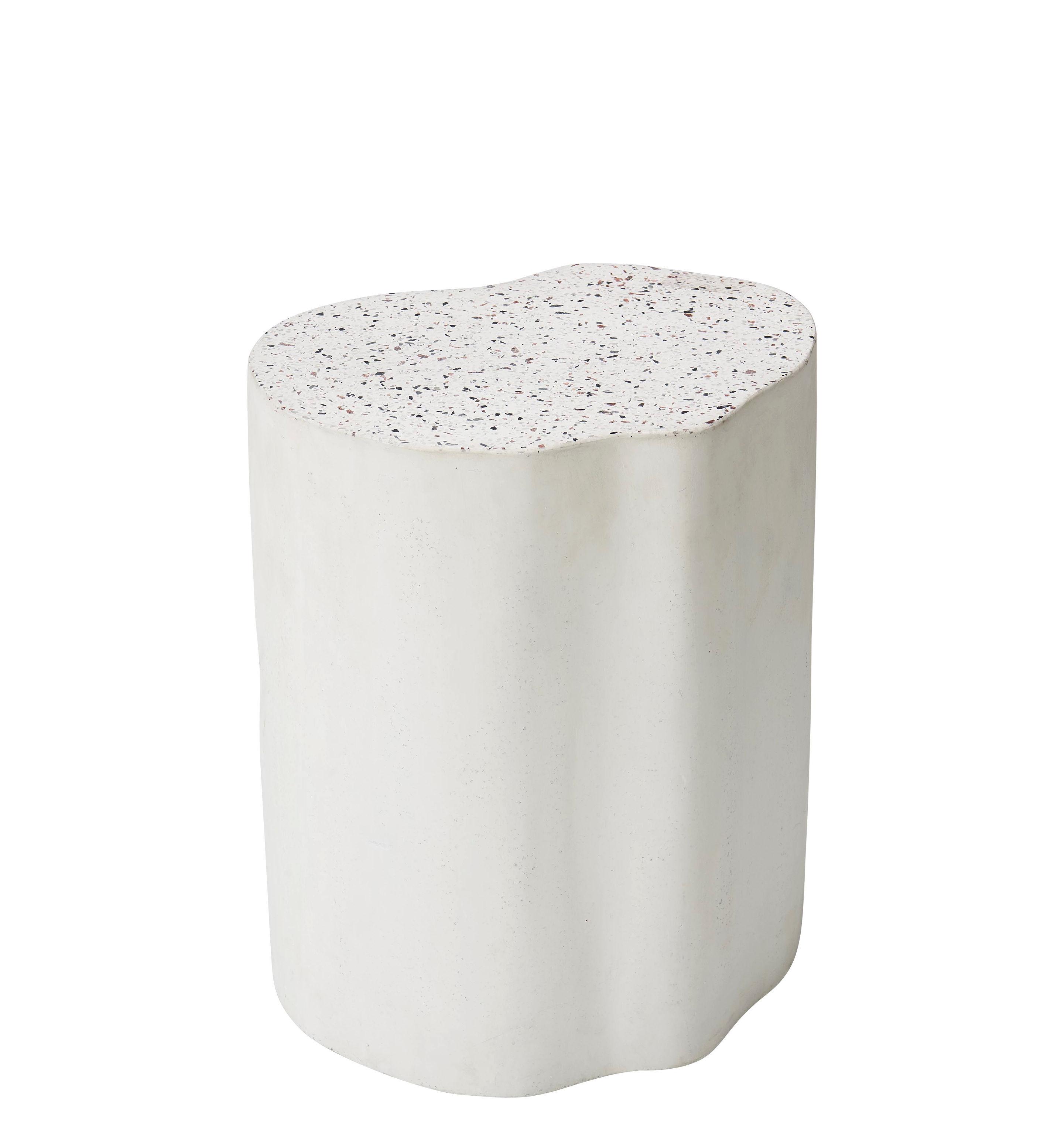 Mobilier - Tables basses - Table d'appoint Heartbreaker / Ø 39 cm - Terrazzo - Bolia - Blanc / Terrazzo - Terrazzo