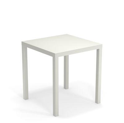 Table Nova Métal 70 x 70 cm Emu blanc en métal