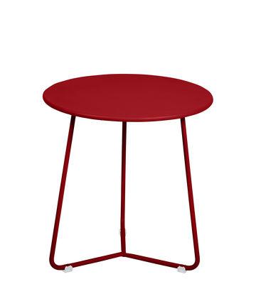 Arredamento - Tavolini  - Tavolino d'appoggio Cocotte - / Sgabello - Ø 34 x H 36 cm di Fermob - Papavero - Acciaio verniciato