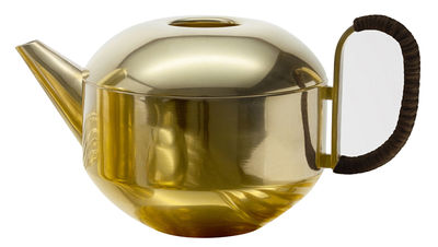 Tableware - Tea & Coffee Accessories - Form Large Teapot by Tom Dixon - Gold - Bakelite, Brass