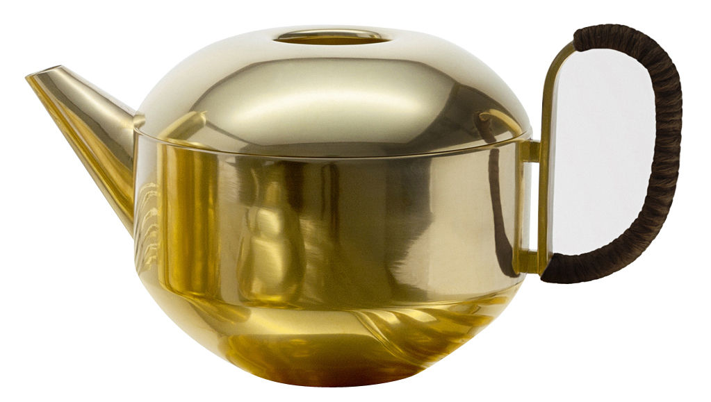 Tableware - Tea & Coffee Accessories - Form Large Teapot by Tom Dixon - Gold - Bakelite, Brass
