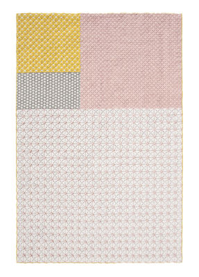 Silaï Teppich / 170 x 240 cm - Gan - Rosa,Gelb,Grau