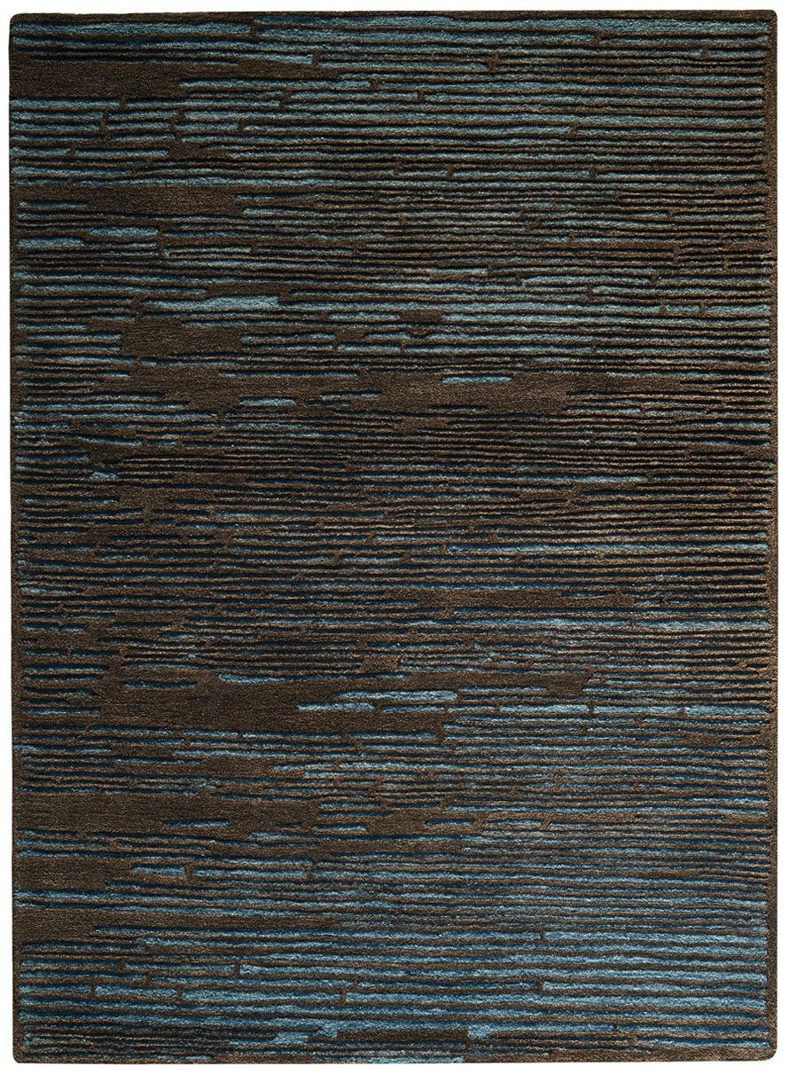 Dekoration - Teppiche - Static Teppich / 170 x 240 cm - Toulemonde Bochart - Tiefseeblau - Wolle