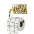 Mauriziø Toilet paper dispenser - / Gold by Seletti