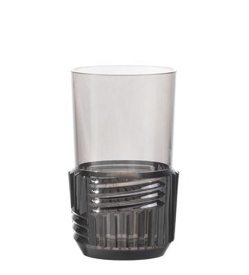 Verre Trama Large / H 15 cm - Kartell gris fumé en matière plastique