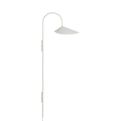 Leuchten - Wandleuchten - Arum Tall Wandleuchte mit Stromkabel / H 127 cm - Metall - Drehbar - Ferm Living - Kaschmir-beige - Epoxid-lackierter Stahl