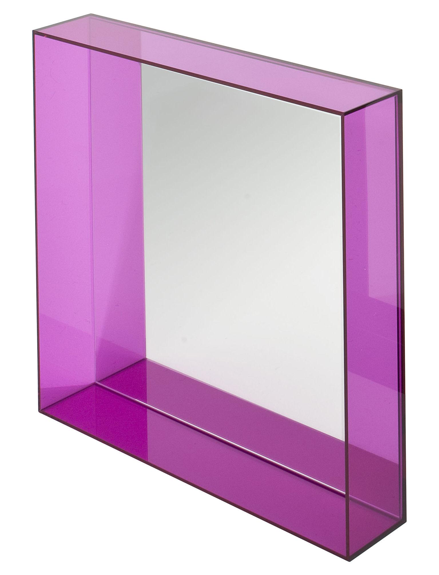Accessoires - Accessoires für das Bad - Only me Wandspiegel / L 50 cm x H 50 cm - Kartell - Fuchsia - PMMA