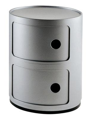 Möbel - Möbel für Teens - Componibili Ablage - Kartell - 2 Elemente - Silber - ABS