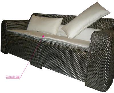 Accessoire canapé Coussin pour canapé Ivy Emu blanc en tissu