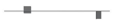Applique Structural LED / L 240 cm - Vibia gris mat en métal